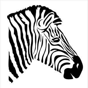 Moderne Zebra-Illustration