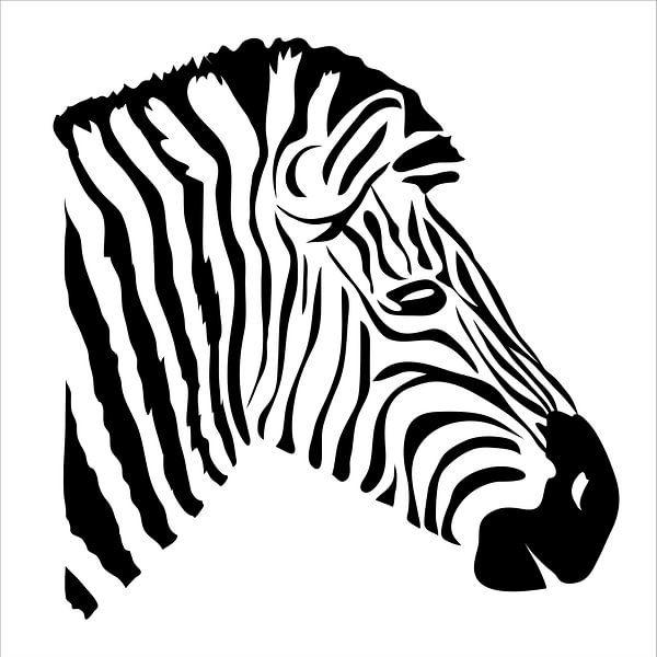 Moderne Zebra-Illustration von Anne Dellaert