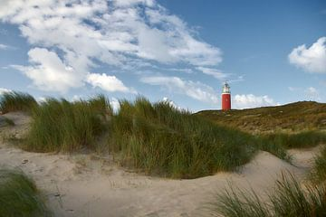 Vuurtoren Eierland in de duinen van Ad Jekel