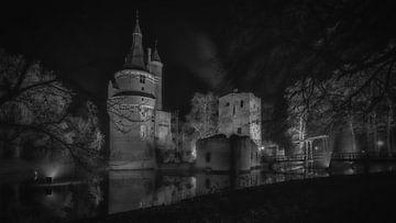 Schloss Duurstede mit Turm (s/w) von Mart Houtman