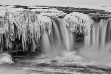 Goðafoss in zwart-wit van Fabian Roessler