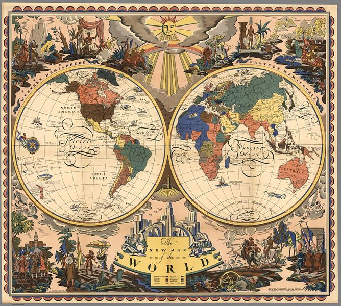 The New Map of the World. van Meesterlijcke Meesters
