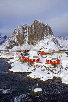 Winteridyll auf den Lofoten von Reinhard  Pantke