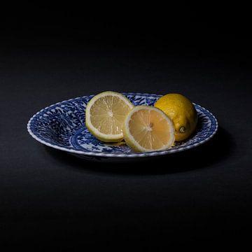 citroenen op Delfts Blauw