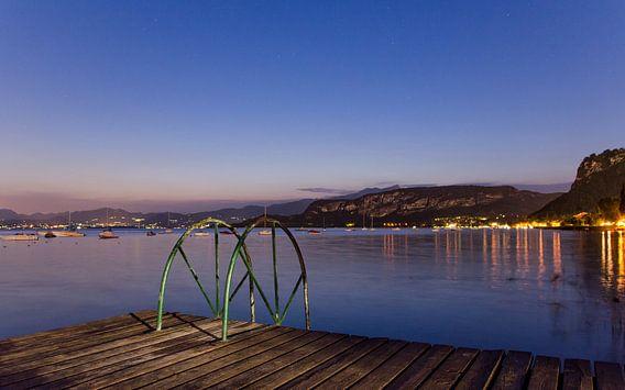 Uitzicht op het Gardameer, Italië van Jeffrey de Graaf