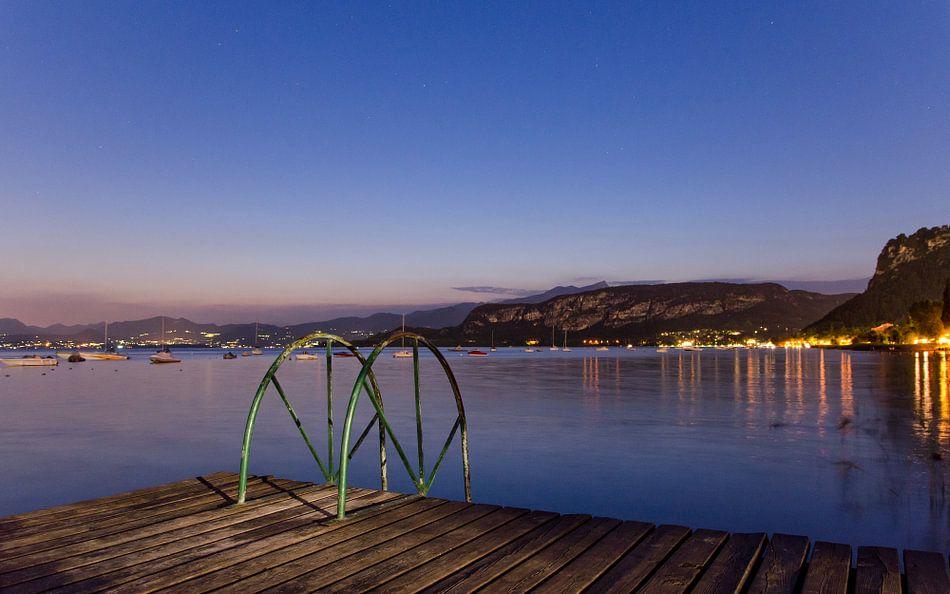 Uitzicht op het Gardameer, Italië