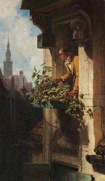 Carl Spitzweg, Die Mansarde I/II - 1848 - 1850 von Atelier Liesjes