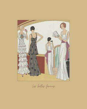 Les belles femmes - Oper, Abendkleid, Vintage Art Deco Mode Druck von NOONY