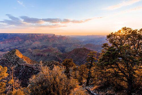 Grand Cayon - de eerste zonnestralen