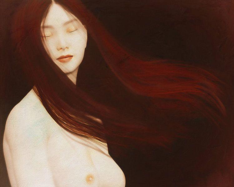 Naakte vrouw in gedachten van Jan Keteleer