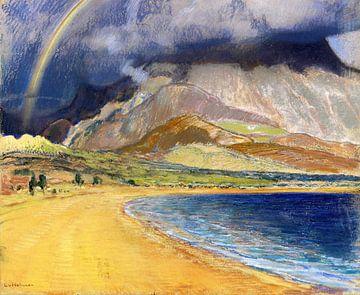 Bucht von Messene. Pastell auf blaugrauem - Ludwig von Hofmann, 1910 von Atelier Liesjes