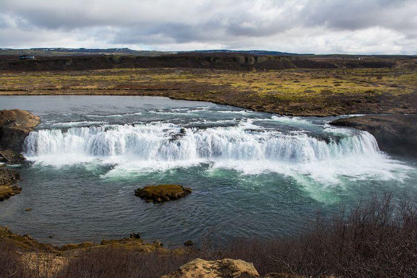 Waterval in IJsland van Lifelicious