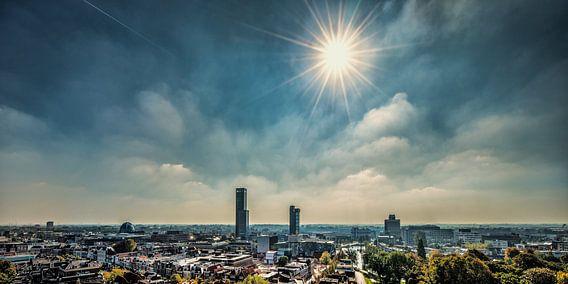 Het centrum van Leeuwarden vanaf de Oldehove van Harrie Muis