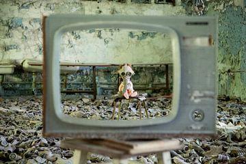 School in Pripjat, achtergelaten pop von Anko Zwerver