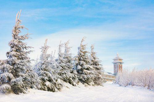 Winter am Fichtelberghaus van Daniela Beyer