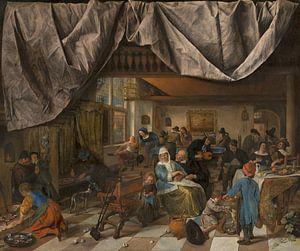 Das Leben des Menschen, Jan Steen