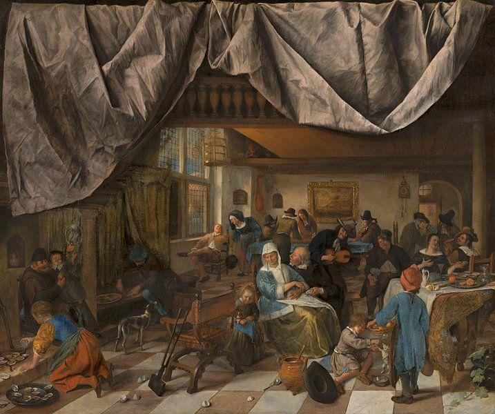 Das Leben des Menschen, Jan Steen von Meesterlijcke Meesters