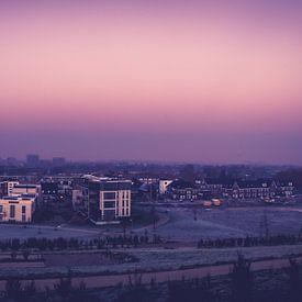 Panorama van Hilversum vanaf Anna's Berg van Wesley Flaman