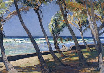 Waikiki Beach, ERICH KIPS, ca. 1928 von Atelier Liesjes