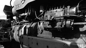 oude motor tractor van