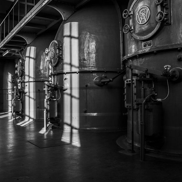 Antieke ventilatorhuizen van Ton de Koning