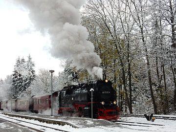 Dampfend durch den Schnee von Louise Hoffmann
