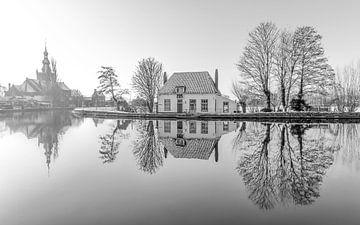 Het Veerhuis in Rotterdam Overschie z/w van MS Fotografie