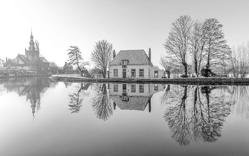 Het Veerhuis in Rotterdam Overschie z/w van MS Fotografie   Marc van der Stelt