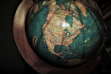Old Globe mit Nordamerika von World Maps