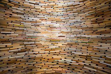 Wand der Bücher von Antwan Janssen