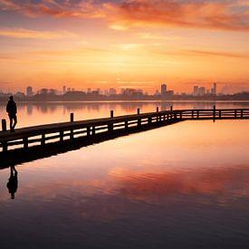 Coucher de soleil à Rotterdam sur Claire Droppert