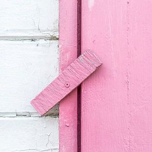 Abstract van houten scharnier in roze van