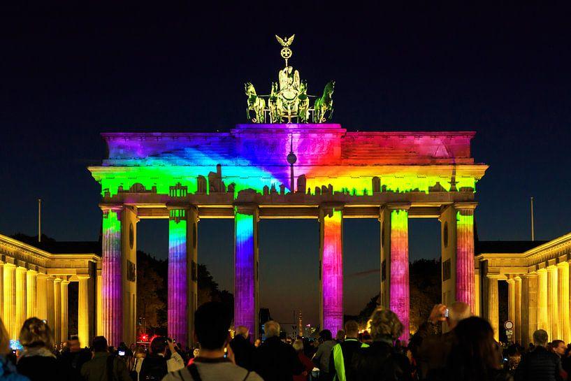 Berlin : la Porte de Brandebourg en illumination spéciale sur Frank Herrmann