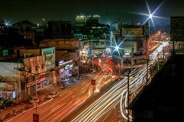 Hyderabad bei Nacht von
