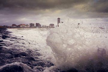 storm in Vlissingen van Els Fonteine