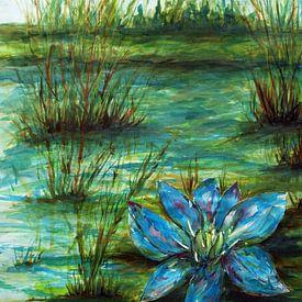 Blauwe waterlelie. van Ineke de Rijk