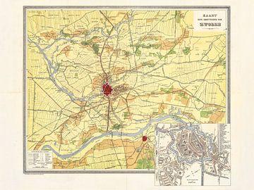 Karte von Zwolle und Umgebung - 1915