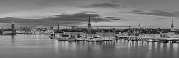 De skyline van Stockholm in zwart-wit van Henk Meijer Photography
