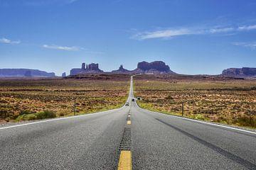 Roadtrip Highway Route 66 West Amerika am Monument Valley (Forrest Gump Point) von Bart Schmitz