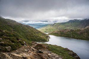 Zicht op een stukje Snowdonia, Wales, GB