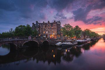 Zonsondergang Amsterdam von Dick van Duijn