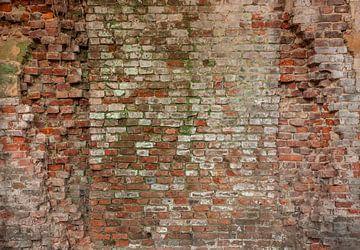 Alte Backsteinmauer Hochauflösende Vollbildkamera Fototapete 5 von Olivier Van Cauwelaert