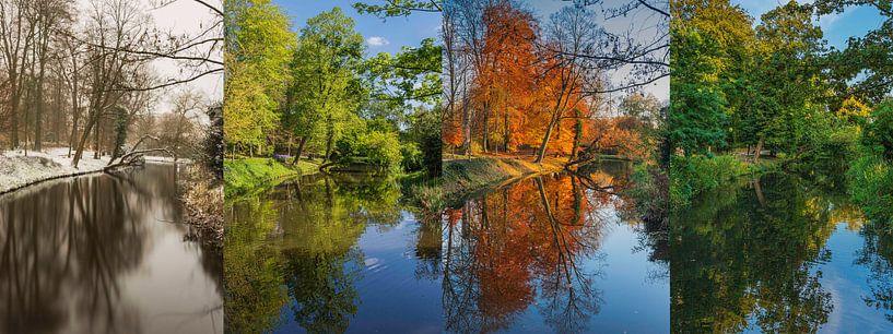 Amersfoorts bos in vier jaargetijden van Karin Riethoven