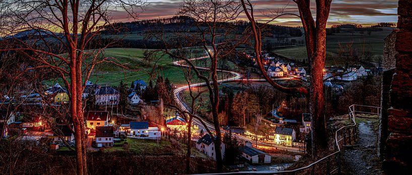 Wolkenstein / Erzgebirge Panorama von Johnny Flash