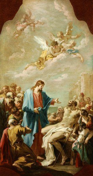 Christus heilt den Gelähmten, Giovanni Antonio Pellegrini von Meesterlijcke Meesters