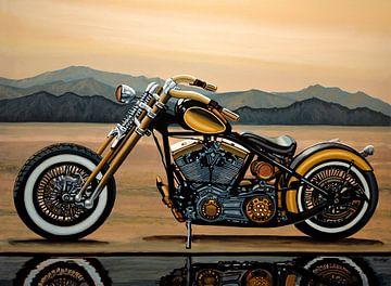Harley Davidson Schilderij van Paul Meijering