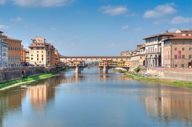 #Florence, Ponte Vecchio. van Fotografie Arthur van Leeuwen