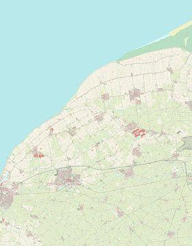 Kaart van Waadhoeke