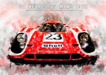 Porsche 917K, Le Mans winnaar 1970 van Theodor Decker