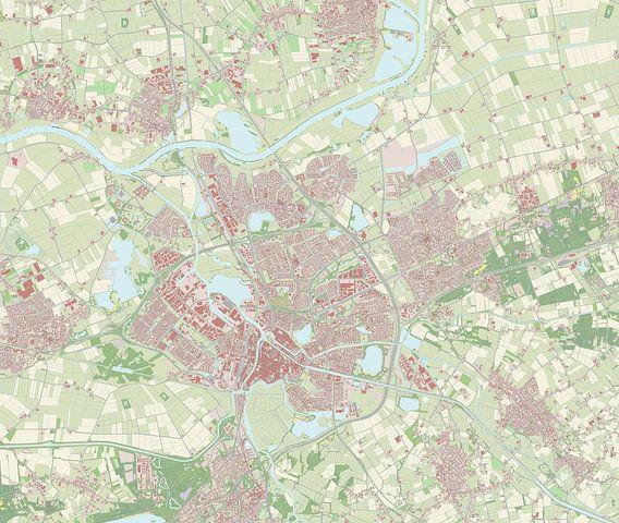 Kaart van's-Hertogenbosch